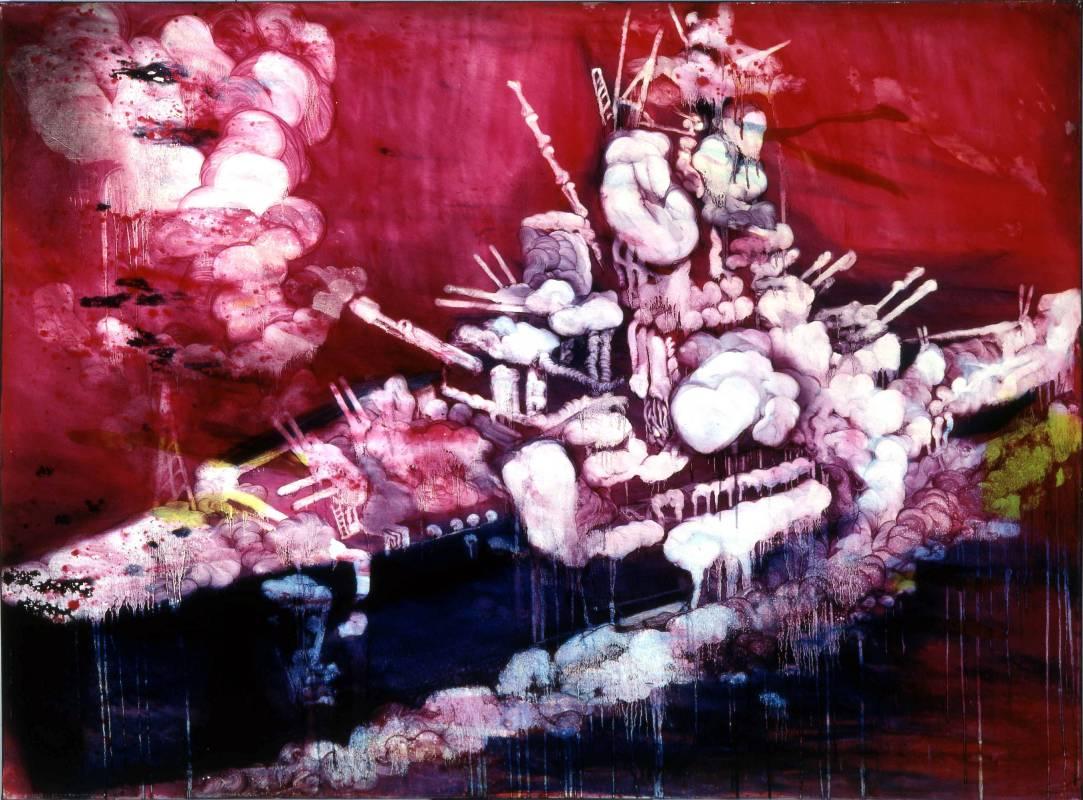 五花肉系列-肉兵器-大戰艦|2006|油彩|195x145.5cm(130F)