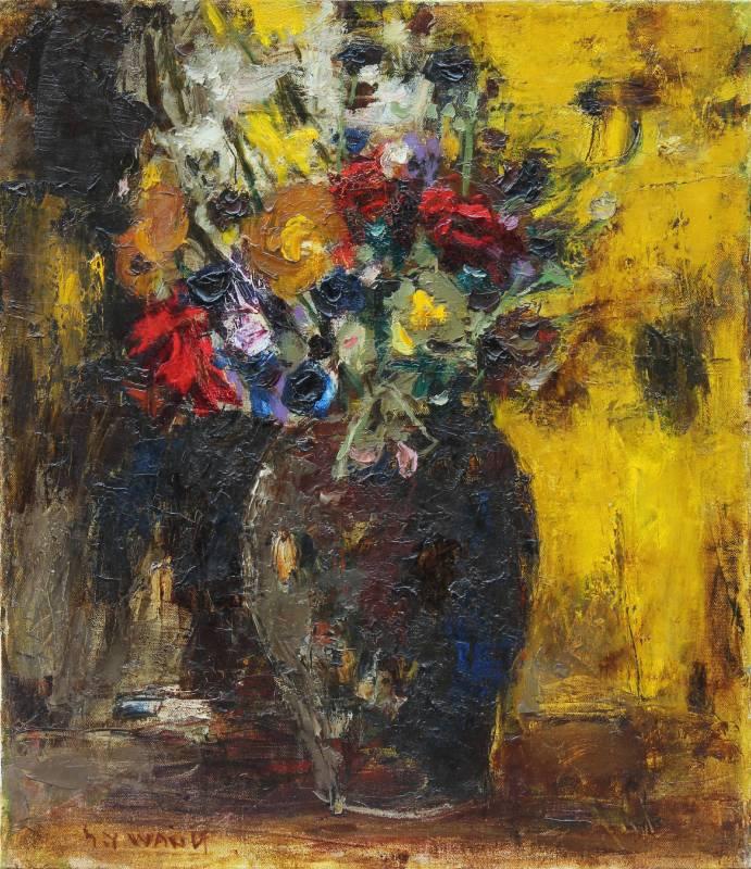 王守英|瓶花(靜物)|1979|油彩|10F