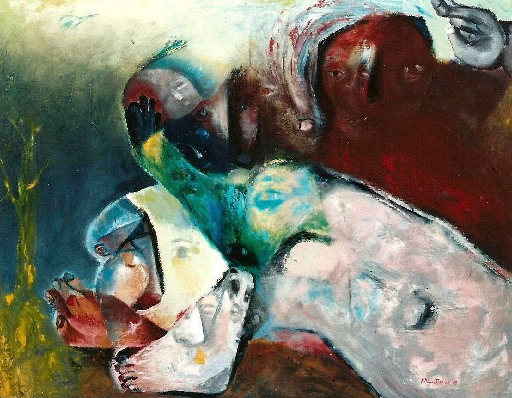 傅慶豊|種苗|2008|油彩|117x91cm