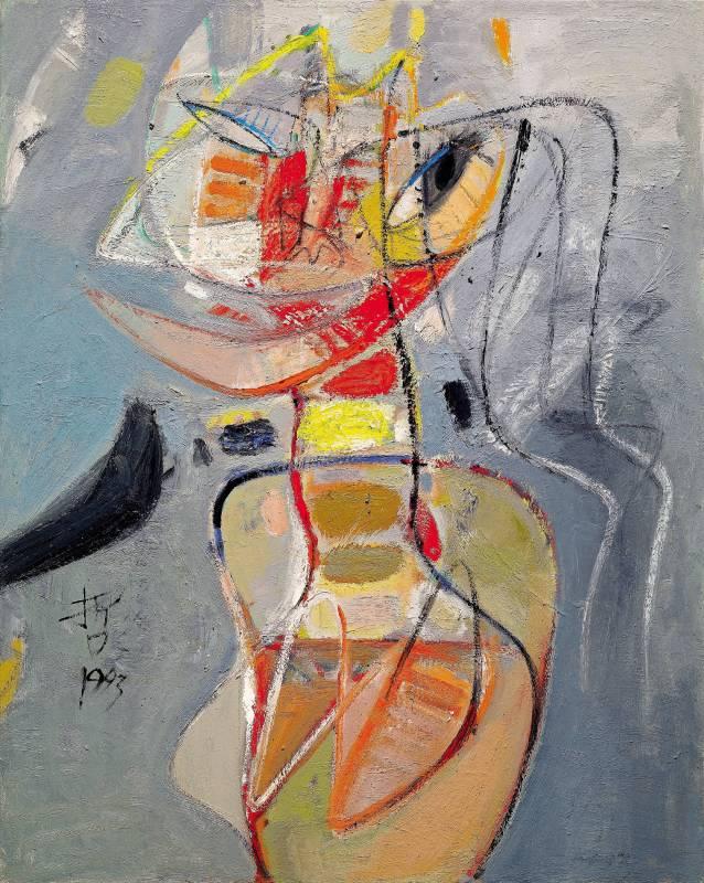 黃銘哲|東區的女人|1993|油彩|90x72cm