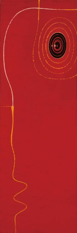黃銘哲|藝術家的眼睛|2001|油彩|181.5x60.5cm