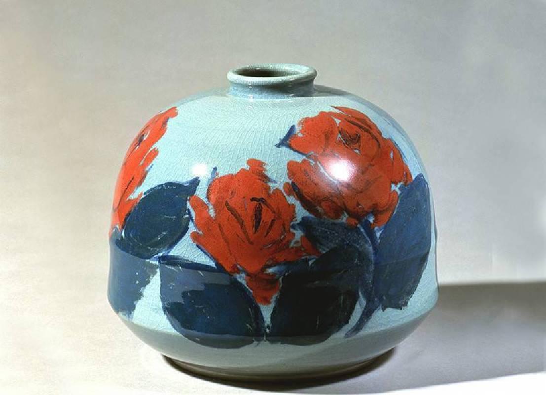 玫瑰 1989|陶藝|30x26x30 cm