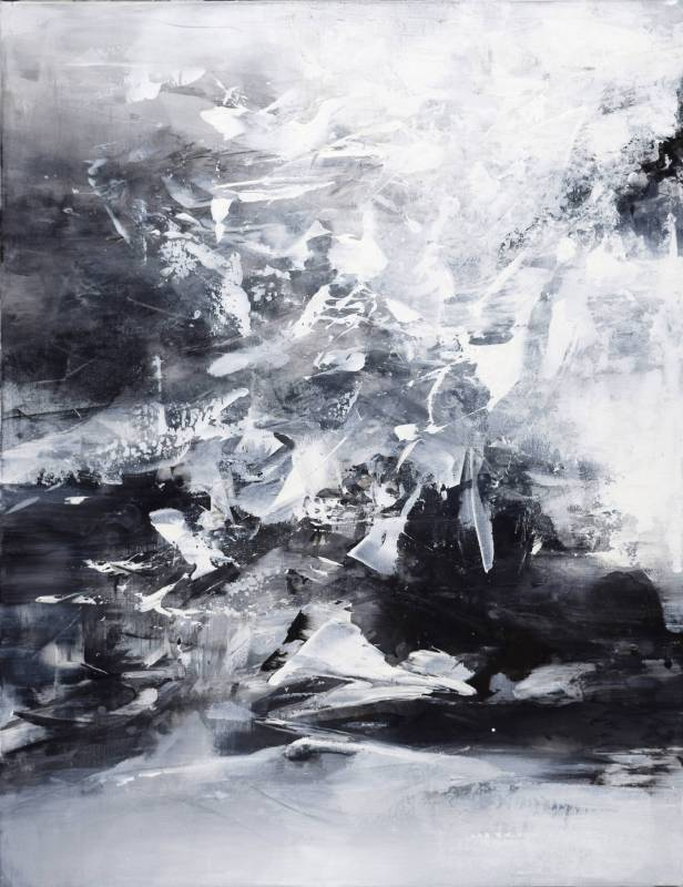 周宸 Chou Chen / 丁酉季冬十九 2018.02.04 ,複合媒材 Mixed media on canvas, 116.5x91 cm , 2018