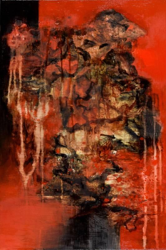 周宸 Chou Chen /  丁酉仲冬廿八 2018.01.14 , 油畫 Oil on canvas , 80x40 cm , 2018