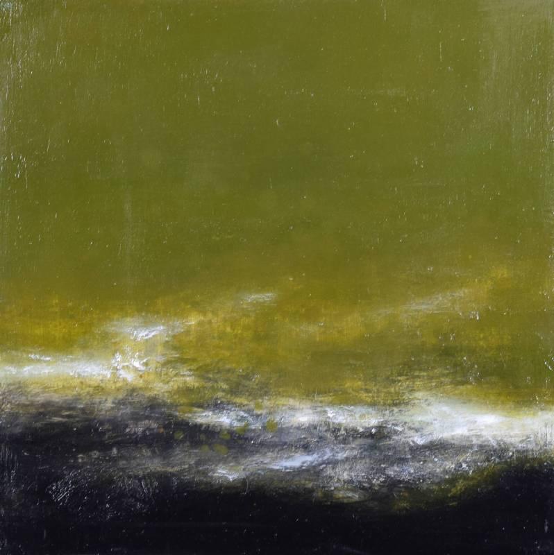 周宸 / 行雲Floating Clouds,油畫 Oil on canvas,60x60 cm ,2015。圖/穎川畫廊提供