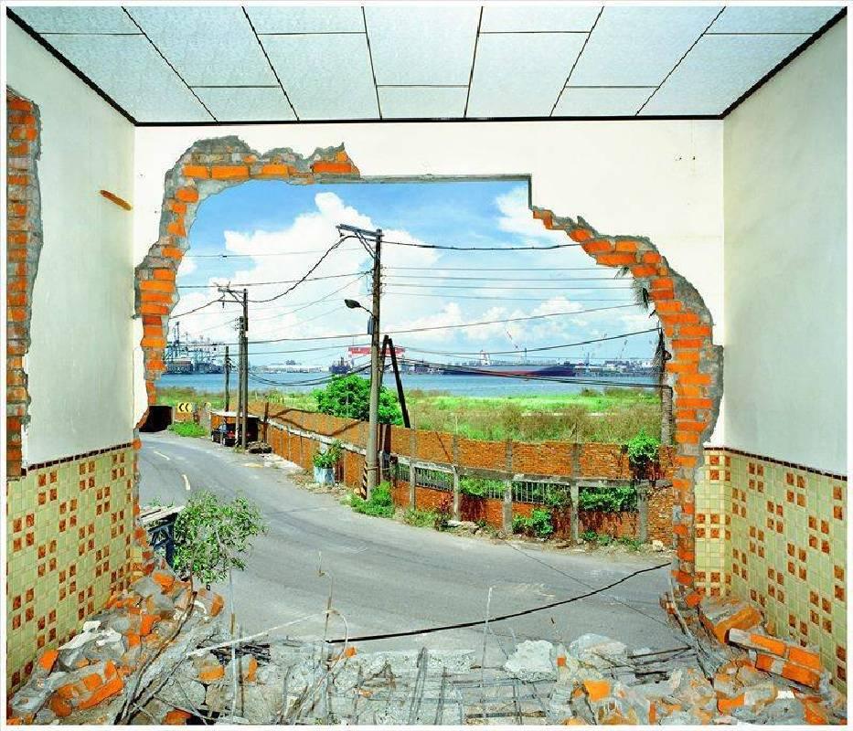 窗景(高雄市紅毛港 海汕三路236-3號李啟川 宅)62 x 76 公分 雷射輸出彩色相紙