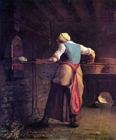 《A woman baking bread》。圖/取自wikimedia。