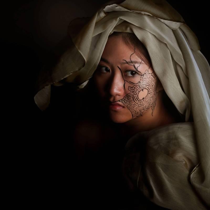 Patrice Delmotte & Baptiste Tavernier|Ariadne Daughter 1.0|攝影 Body painting and Photograph | 50x50cm| 2017