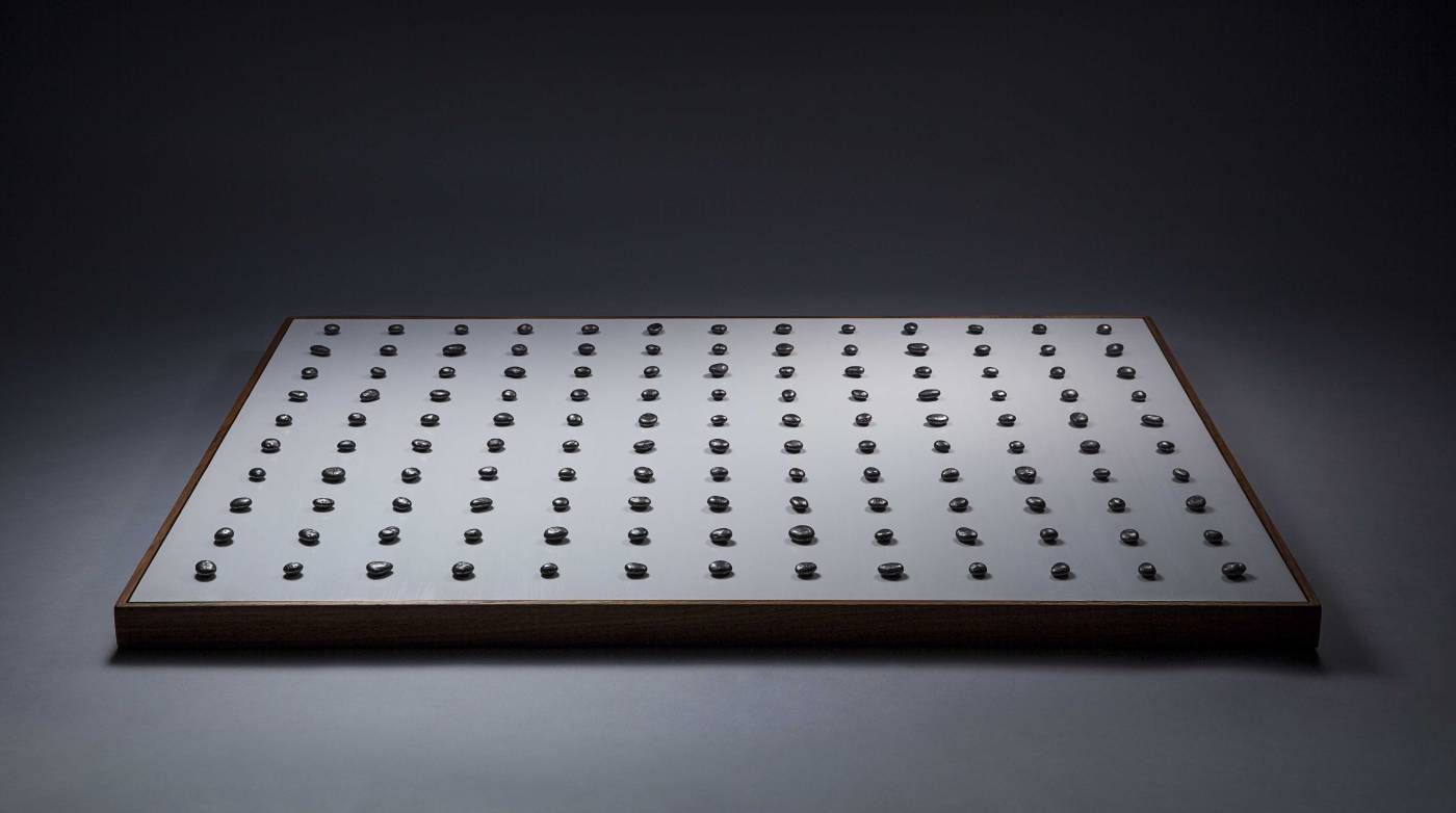 莊騰翔 Chuang, Teng-Shiang ,Landscape ( 2018 不鏽鋼 壓克力 木板 Stainless Steel, Acrylic on Wood Board  (H)70x(W)91x(D)4.7cm )  (Wellington Gallery心晴美術館)