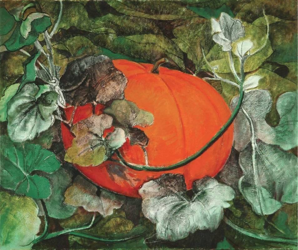 黃才郎, 南瓜, 72.5x60.5cm, 混合媒材, 1993