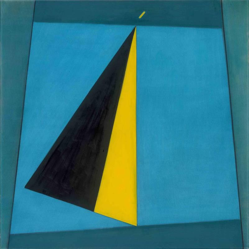 霍剛, 抽象2017-041, 100x100cm, 油彩、畫布, 2017