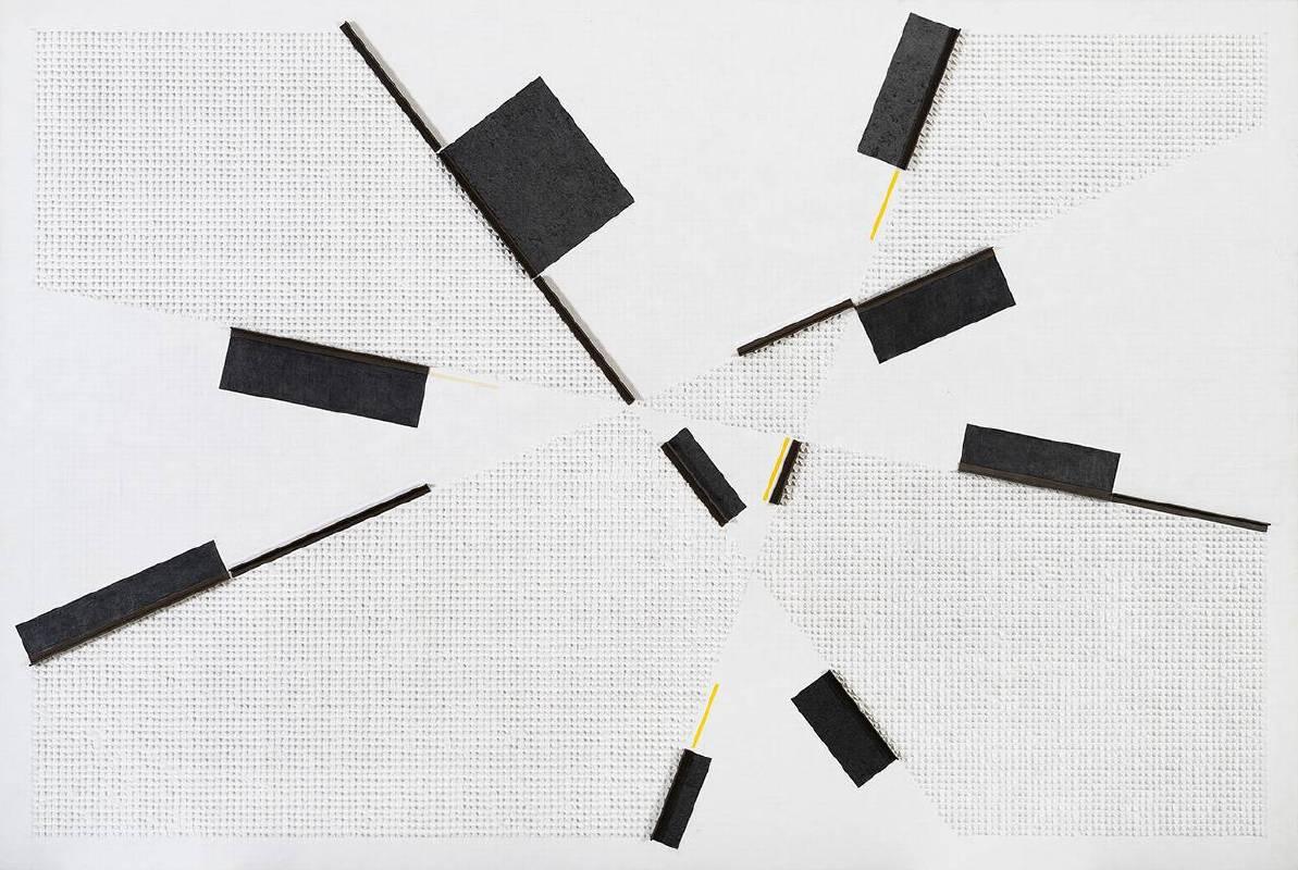 莊普, 新境主義, 鉛筆、壓克力、紙、畫布、鋁製品, 130x194x5cm, 2018