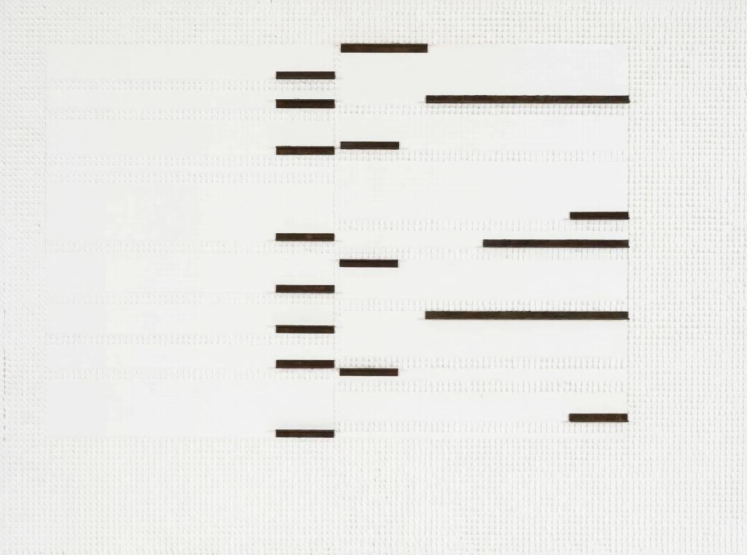 莊普, 地景化, 紙、畫布、鋁製品, 97x130cm, 2016