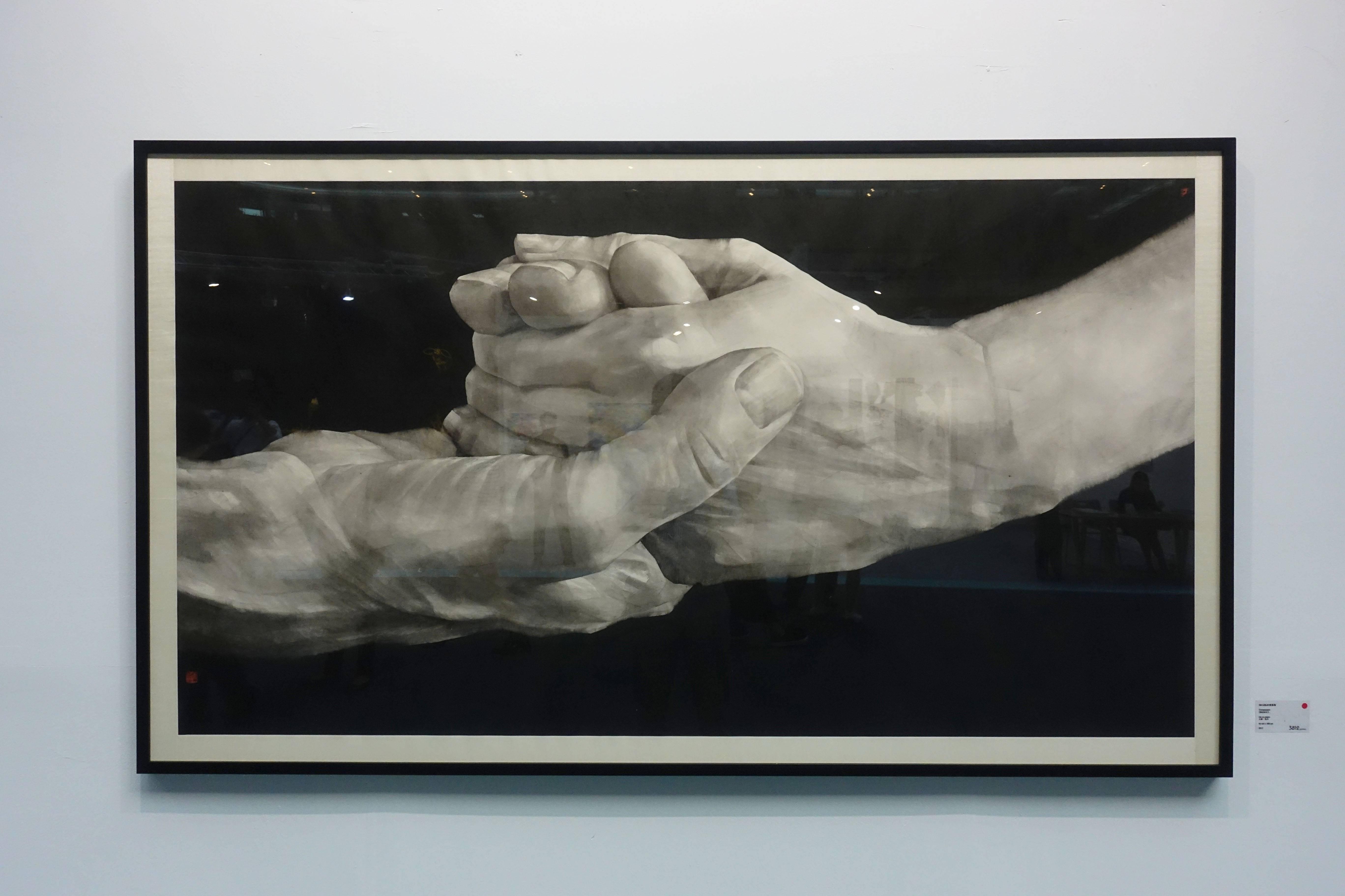 香港3812畫廊-曲磊磊,《愛的時空》,紙本水墨,107x190cm,2016。