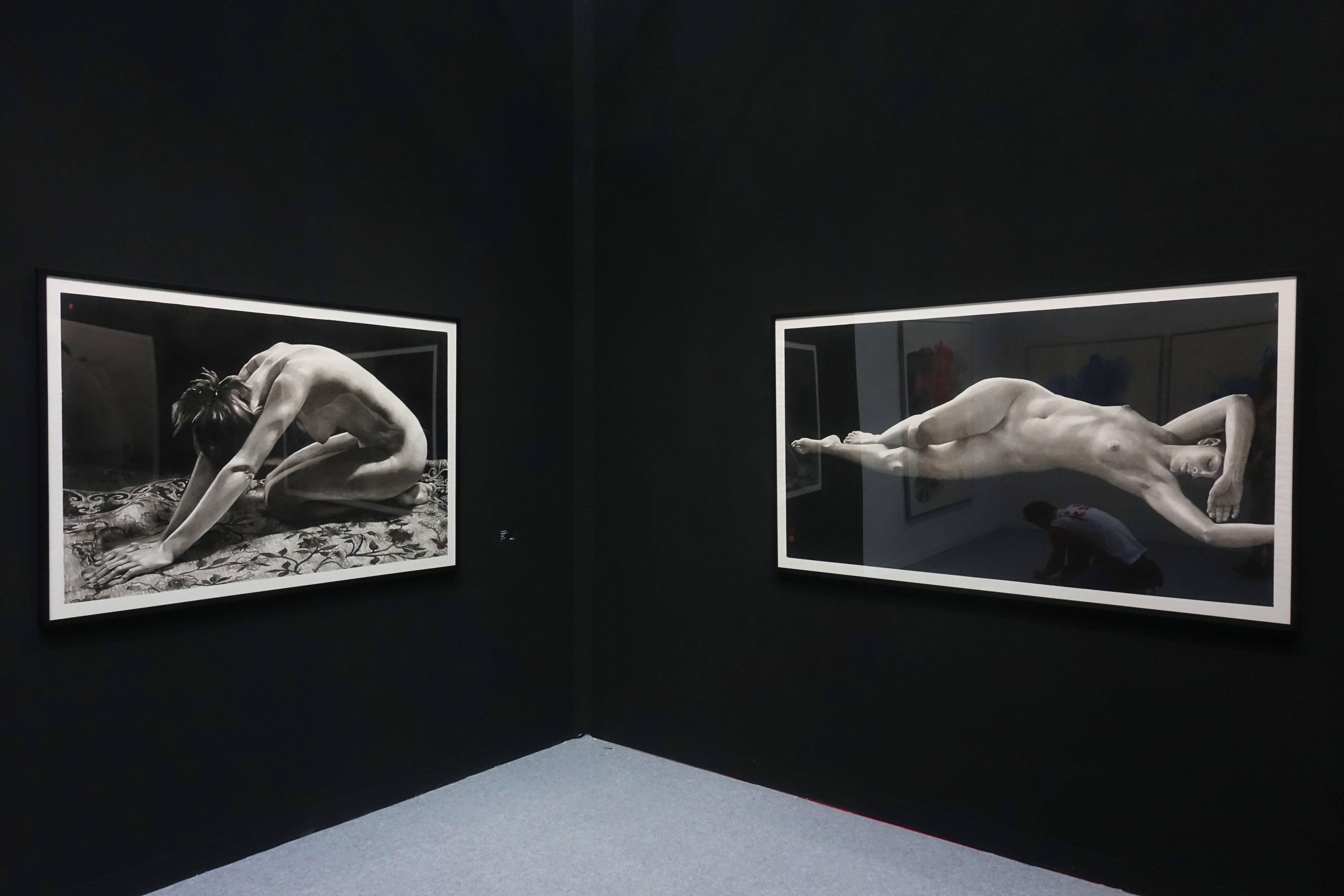 香港3812畫廊-曲磊磊系列作品。