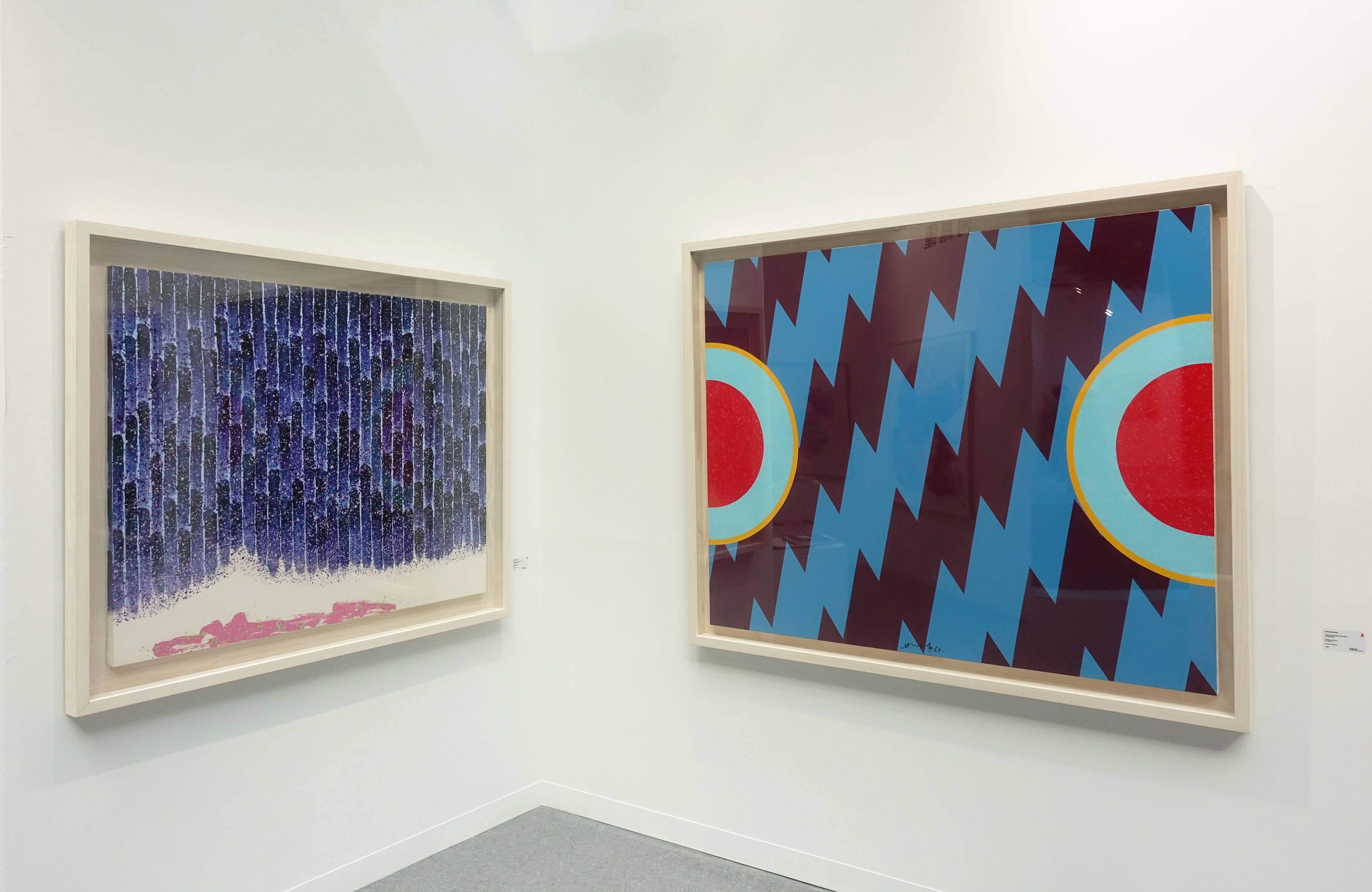 香港3812畫廊-蕭勤系列作品。