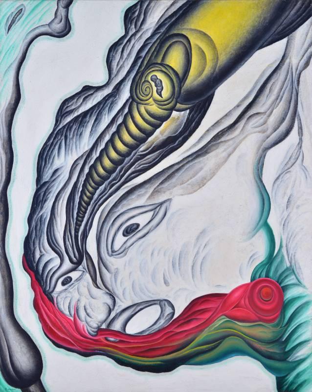 鄭建昌 2008 大塊之吸引力 油彩畫布 130×162cm