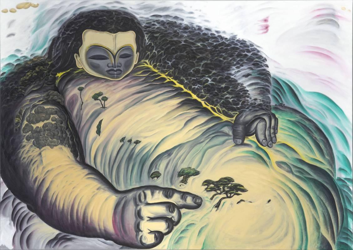 鄭建昌 2014 大塊之指 油彩畫布 194×130cm