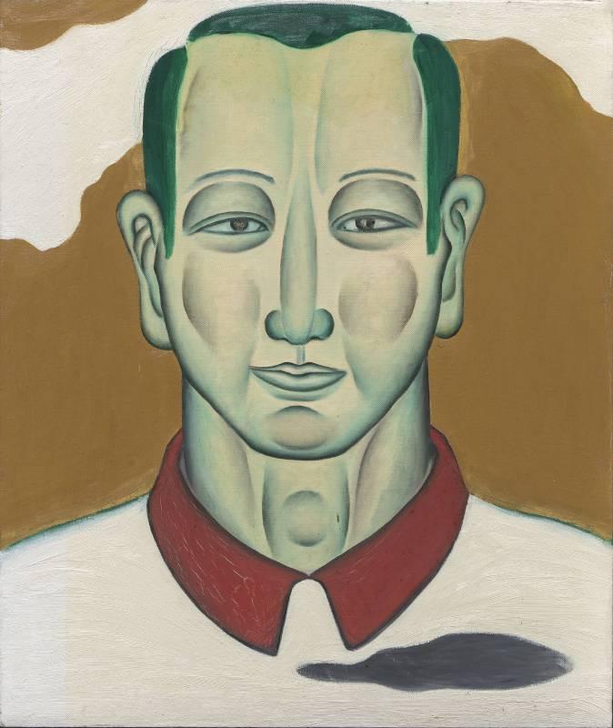 鄭建昌 1991 白衣相 油彩畫布 60.5×72cm