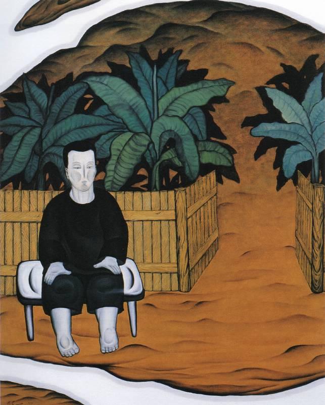 鄭建昌 1993 這是我的家園 油彩畫布 72.5×91cm