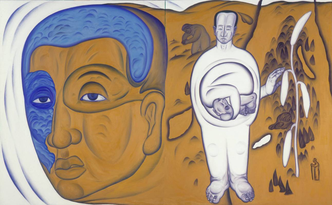 鄭建昌 1999 山海精靈變奏曲 油彩畫布 260×162cm