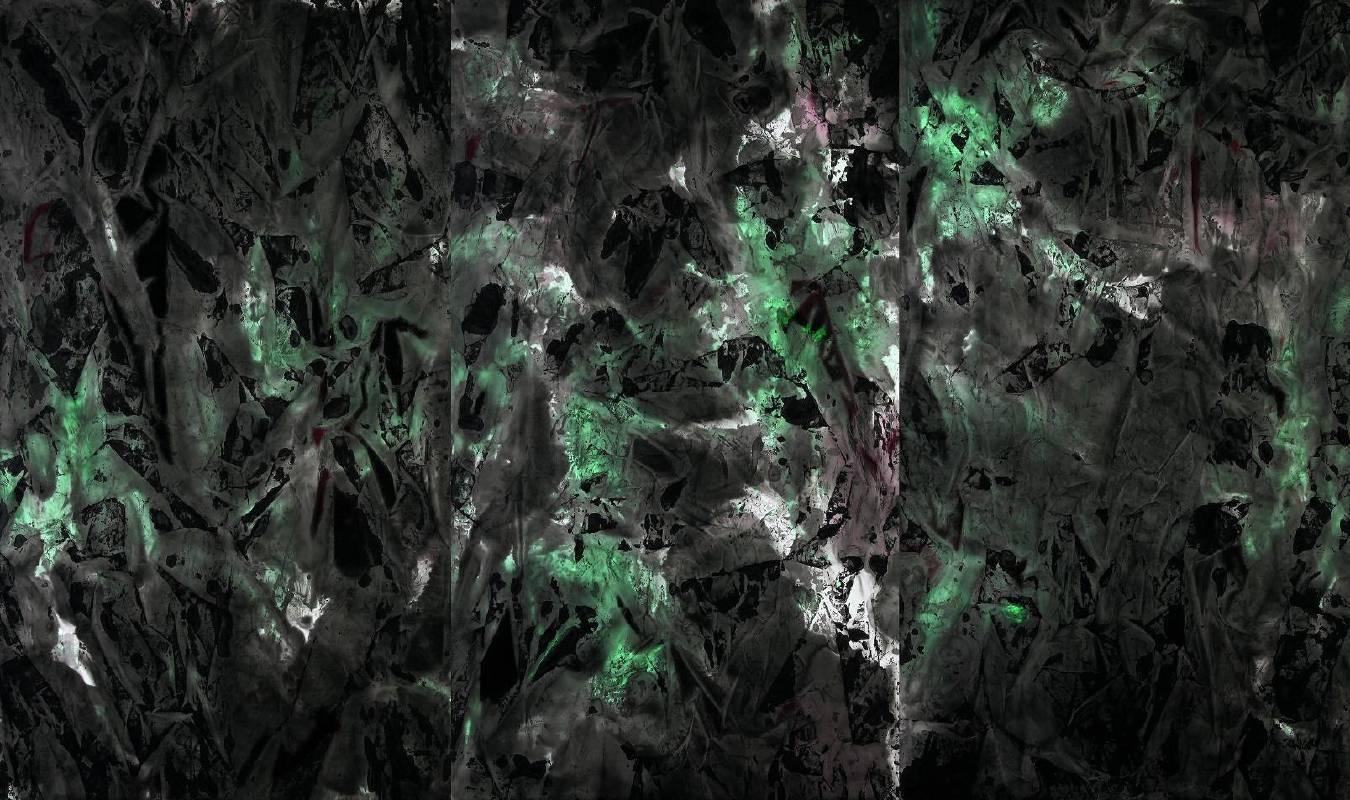 吳炫三〈黃山神秘青上石〉