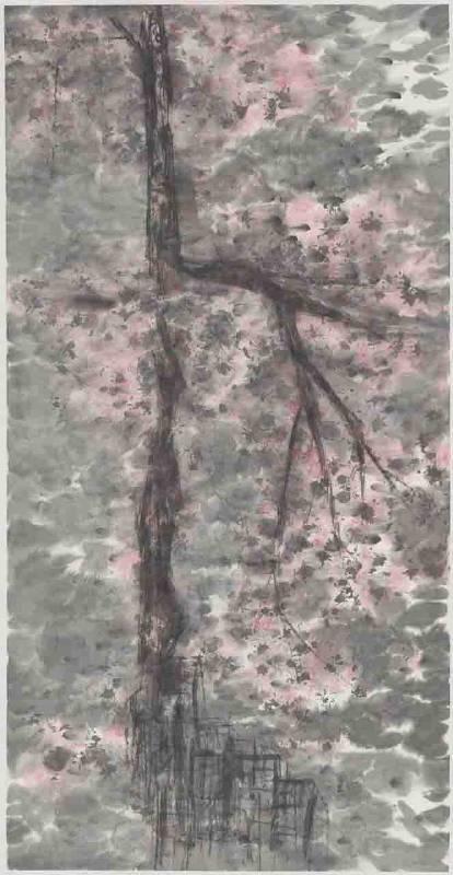 彩墨系列之六 70x136cm 彩墨、紙 2013