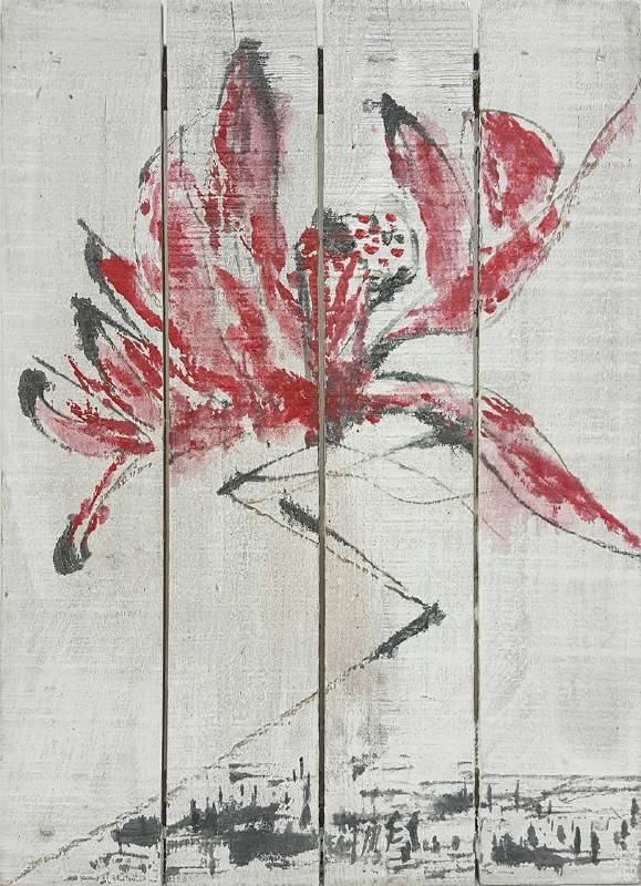 豆腐板書畫系列之二十九 39.5x29.2xH5cm 豆腐板(木板)、壓克力、墨 2018