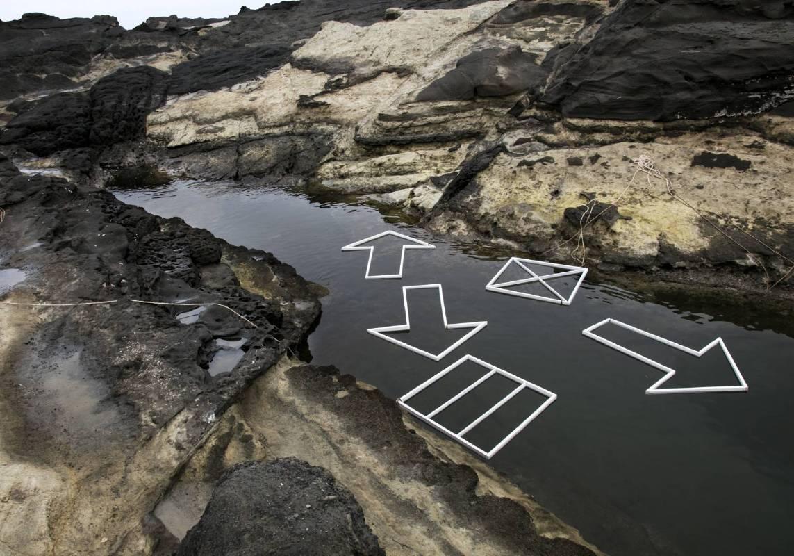 《almost nature》符號的河口—方向編入風景的概念