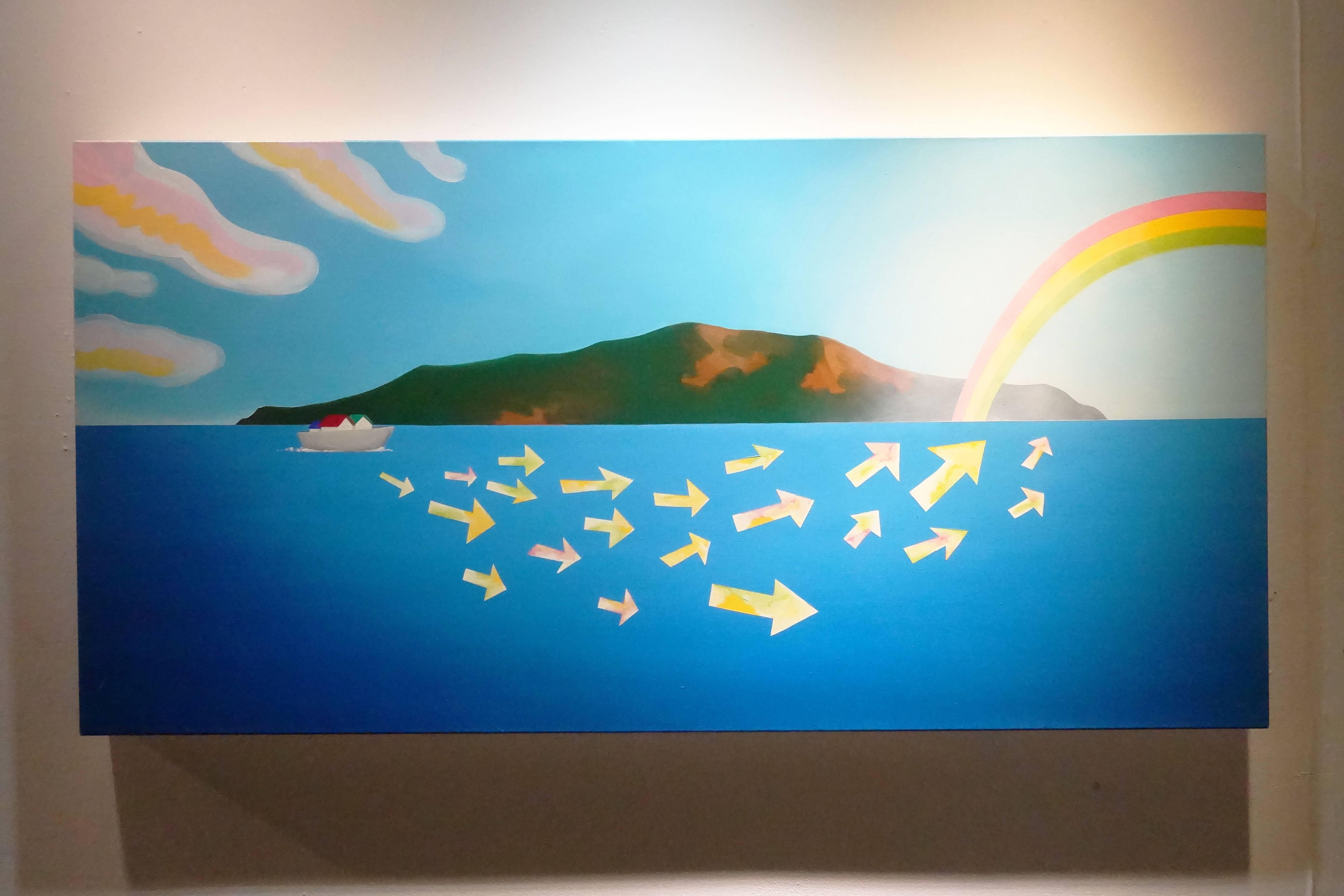 張友鷦,《夢想前行》,油彩畫布,2015。