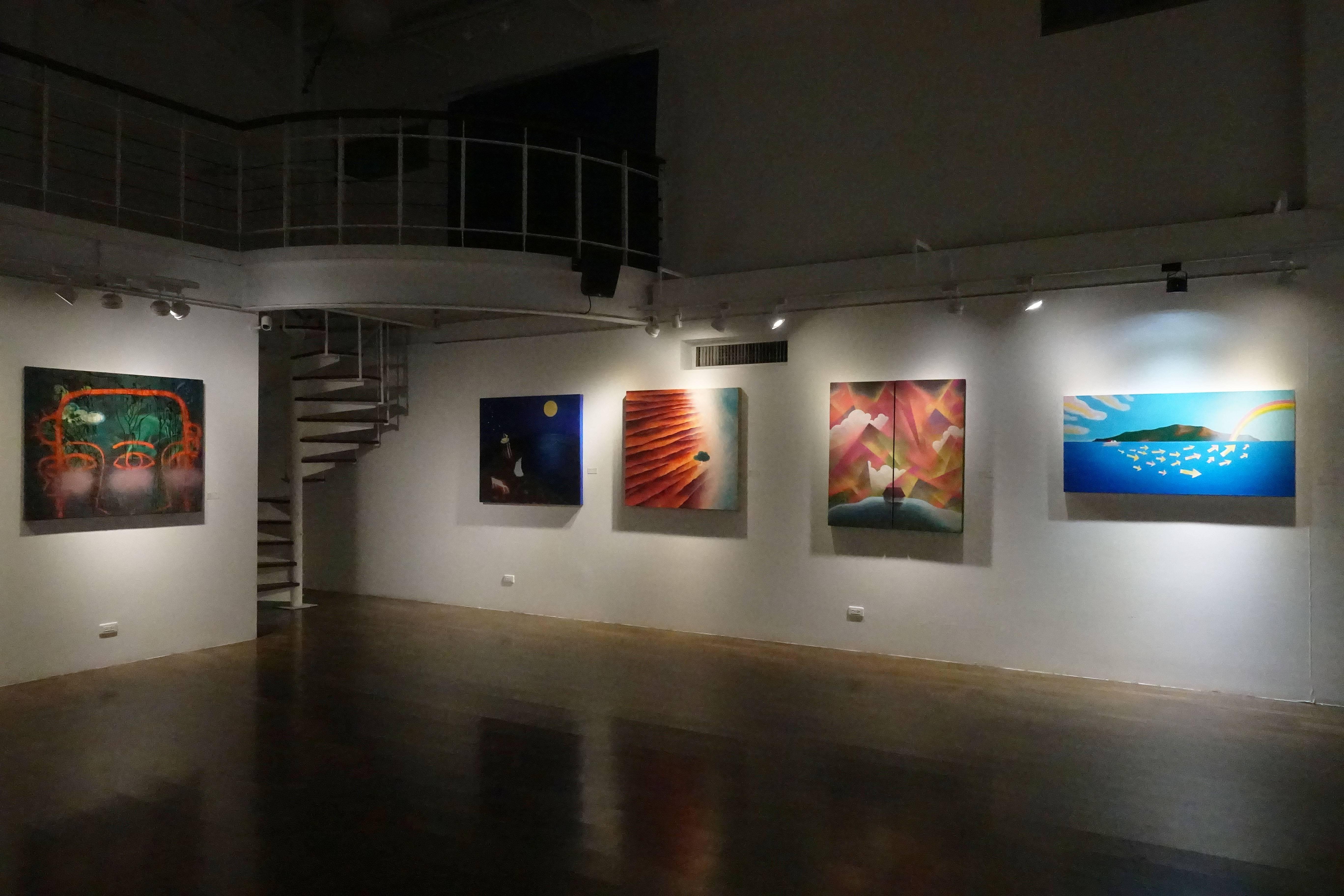 寂靜的目光-張友鷦個展展覽現場一景。