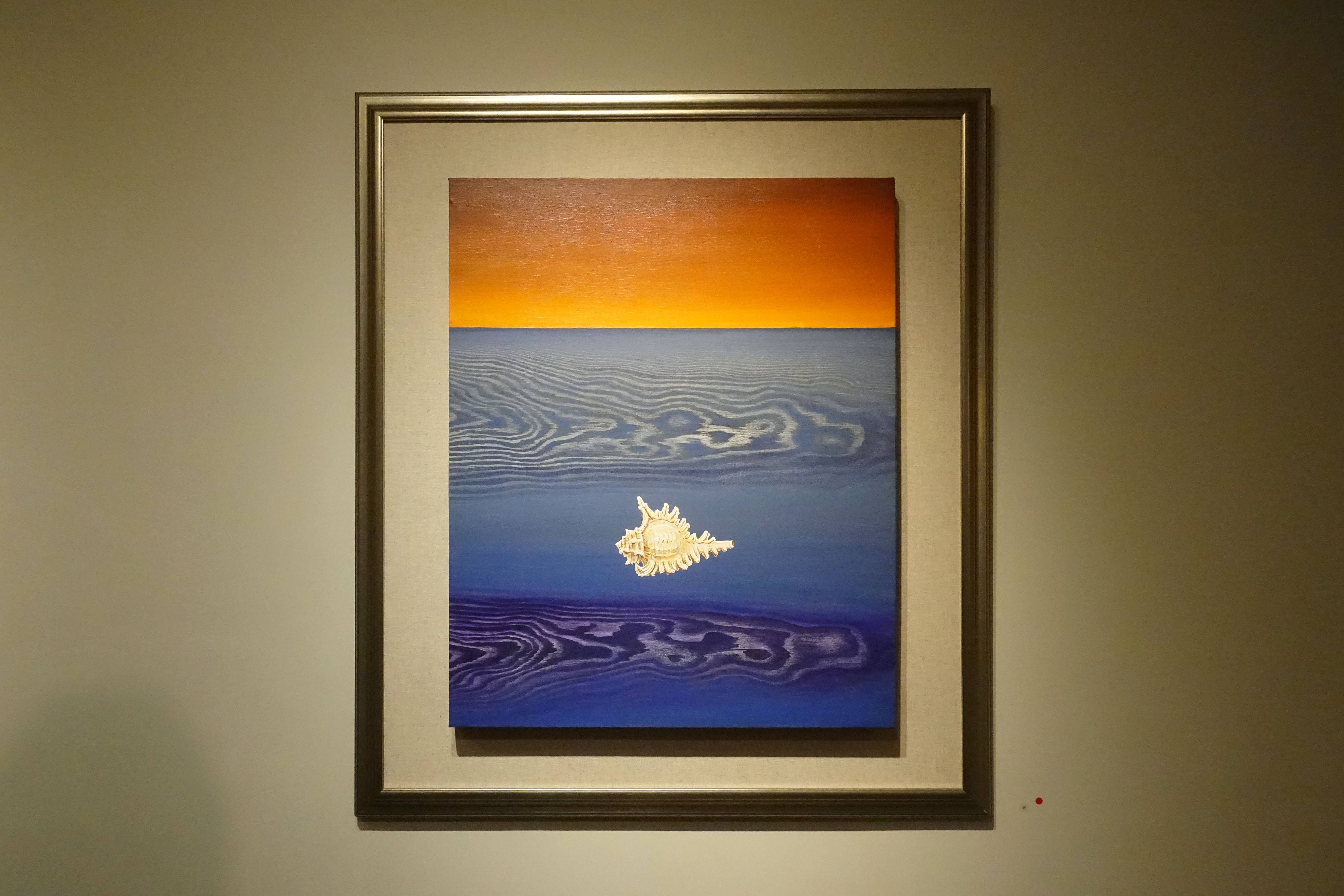林雪卿,《聽潮 Listen to the Tide 》,1995 ,綜合媒材、畫布 Mixed Media。