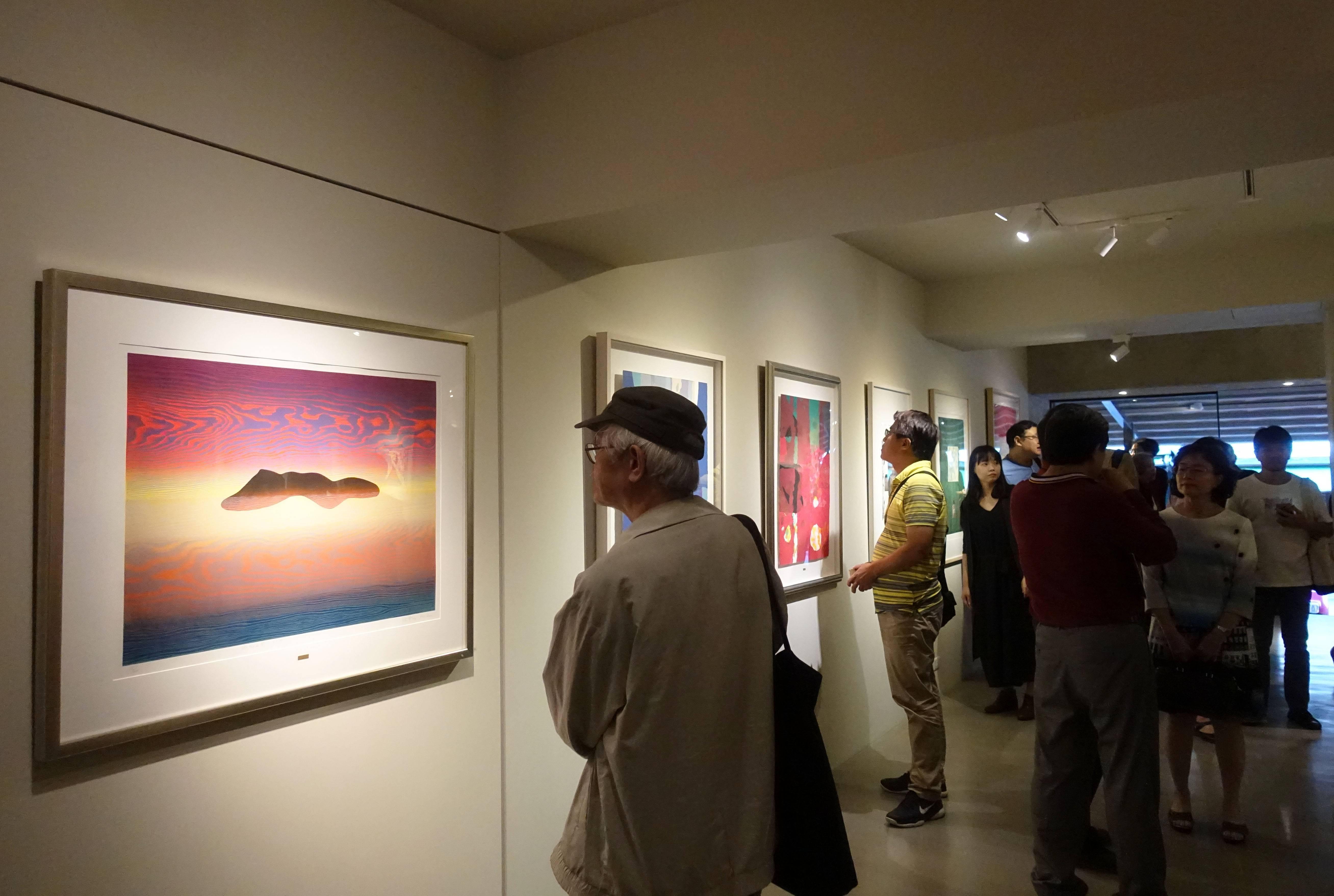 有璽藝術空間現場展覽一隅。