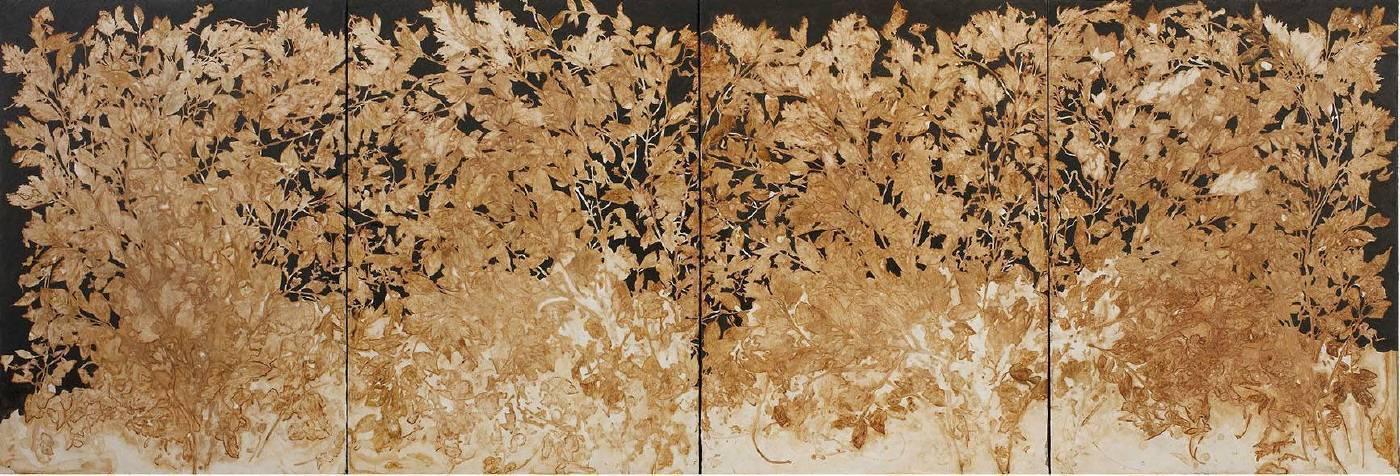 蔡獻友 原植物-6 2017 複合媒材 212×72.5cm