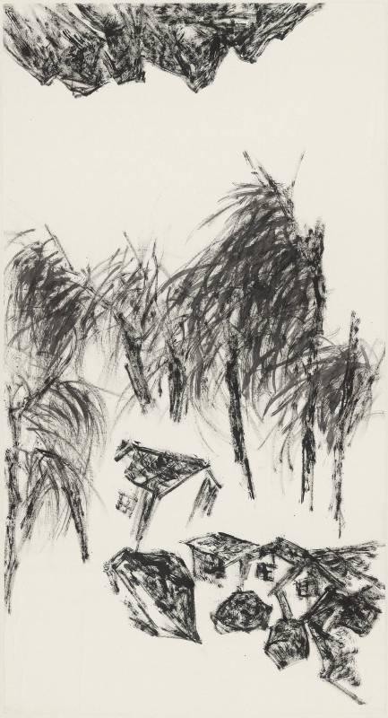 許雨仁 粗筆系列之四十七 97x180cm 2008 水墨、紙