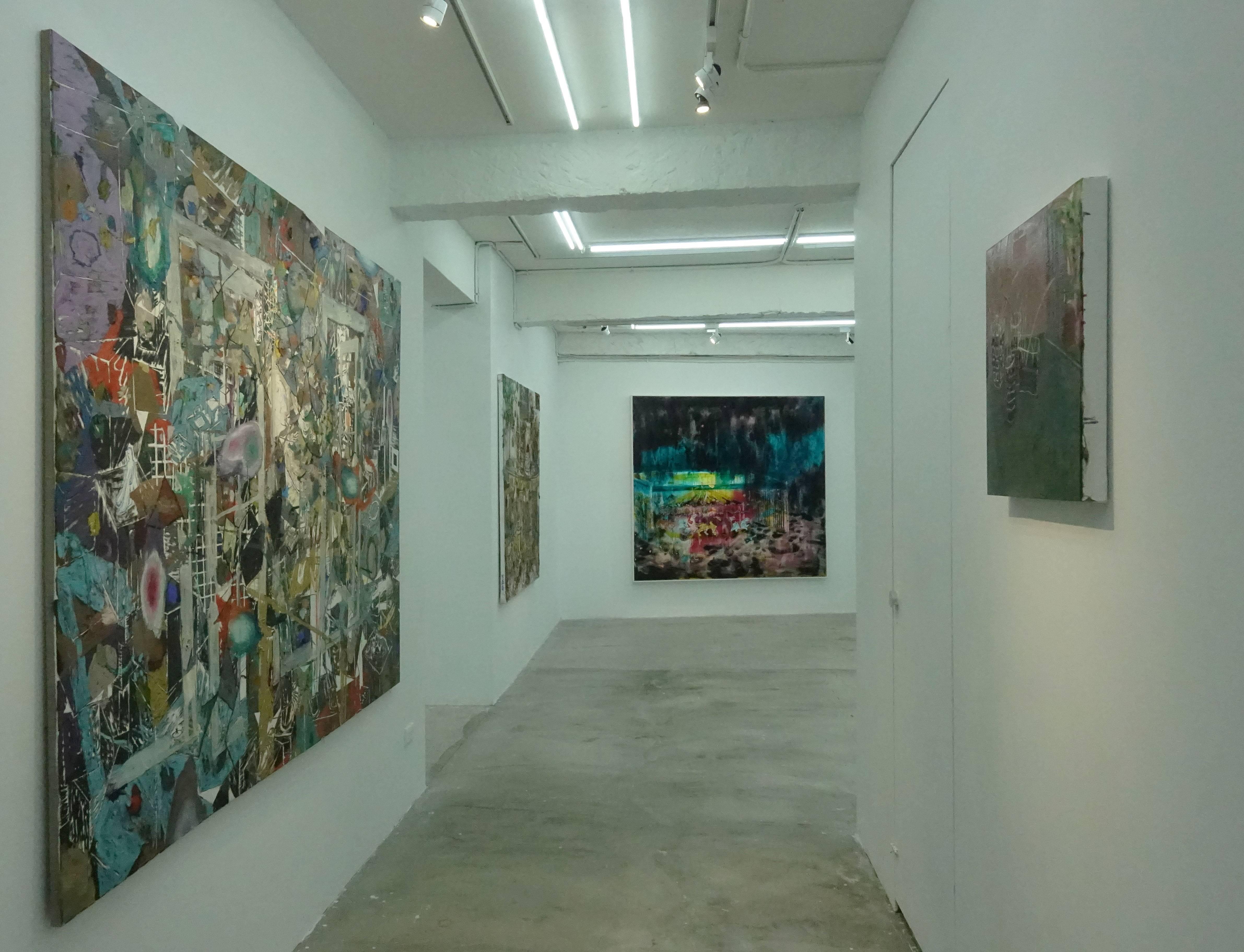 路由藝術《空間中的空間的空間 》現場展出空間一隅。