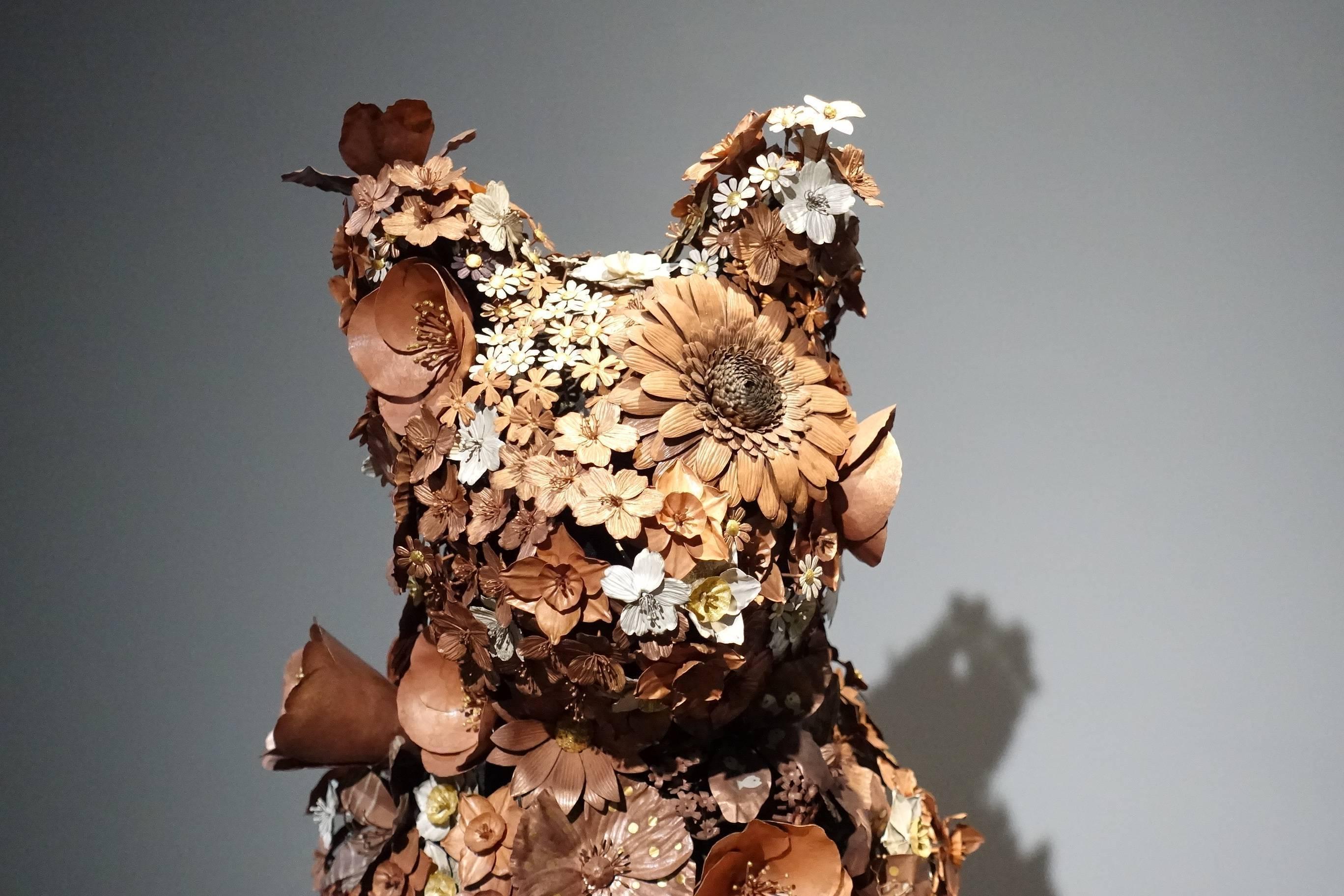 吉田泰一郎 (YOSHIDA Taiichiro)作品《花貓》。