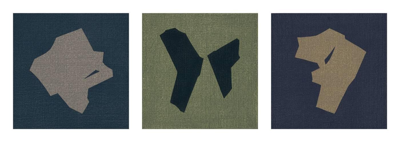 Little Symbol-35,36,37, 45x45cm x3, Oil on Canvas Board, 2018