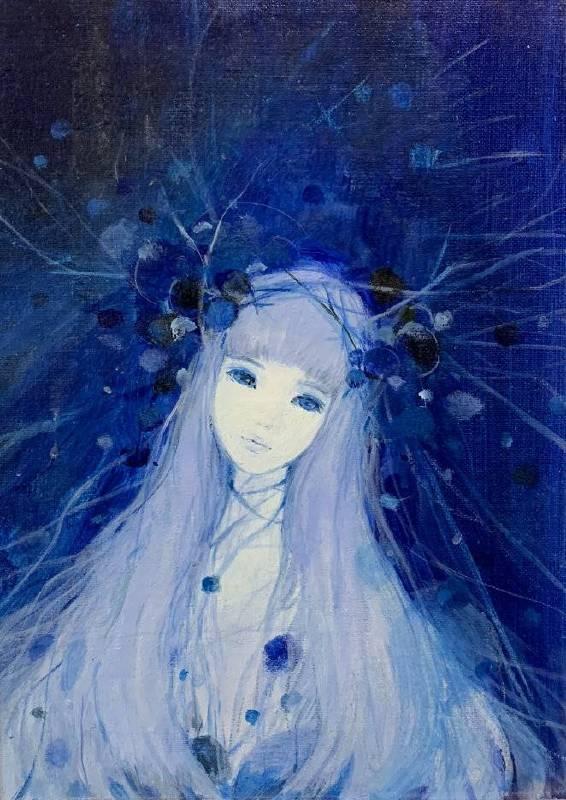 Snow girl 壓克力畫布 F4 2015