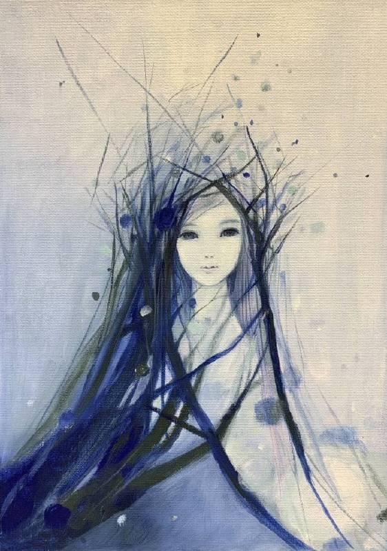 Snow girl 00 壓克力畫布 F4 2015