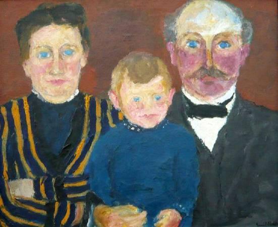 諾爾德,《Bonnichsen family》,1915年。圖/取自wikiart。