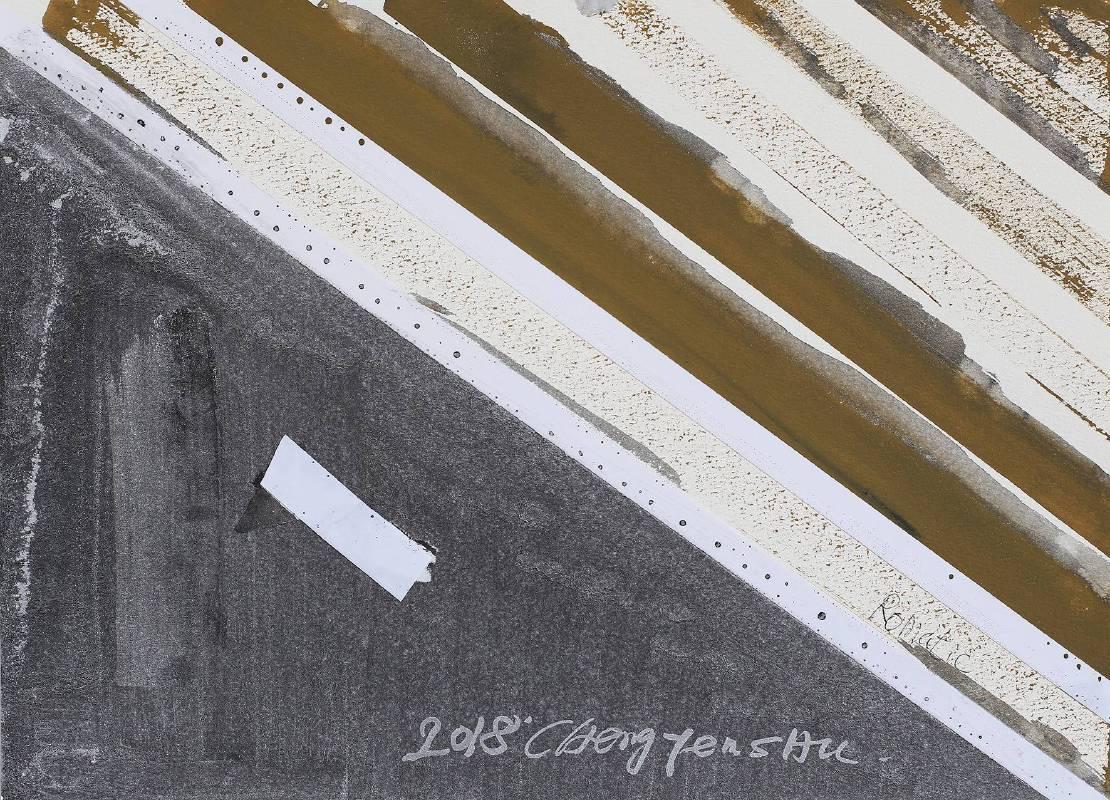 G‧草‧書 (F)複合媒材、Arches紙27x37.5cm2018