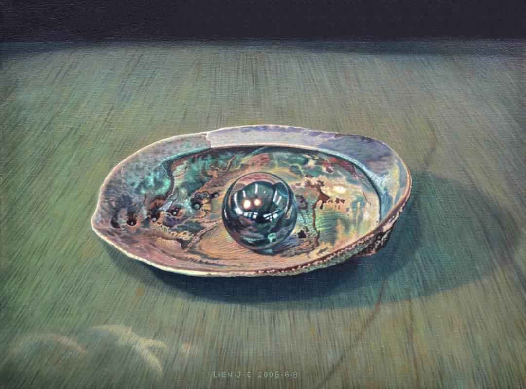 連建興|凝視|2006|油彩|50x72.5cm