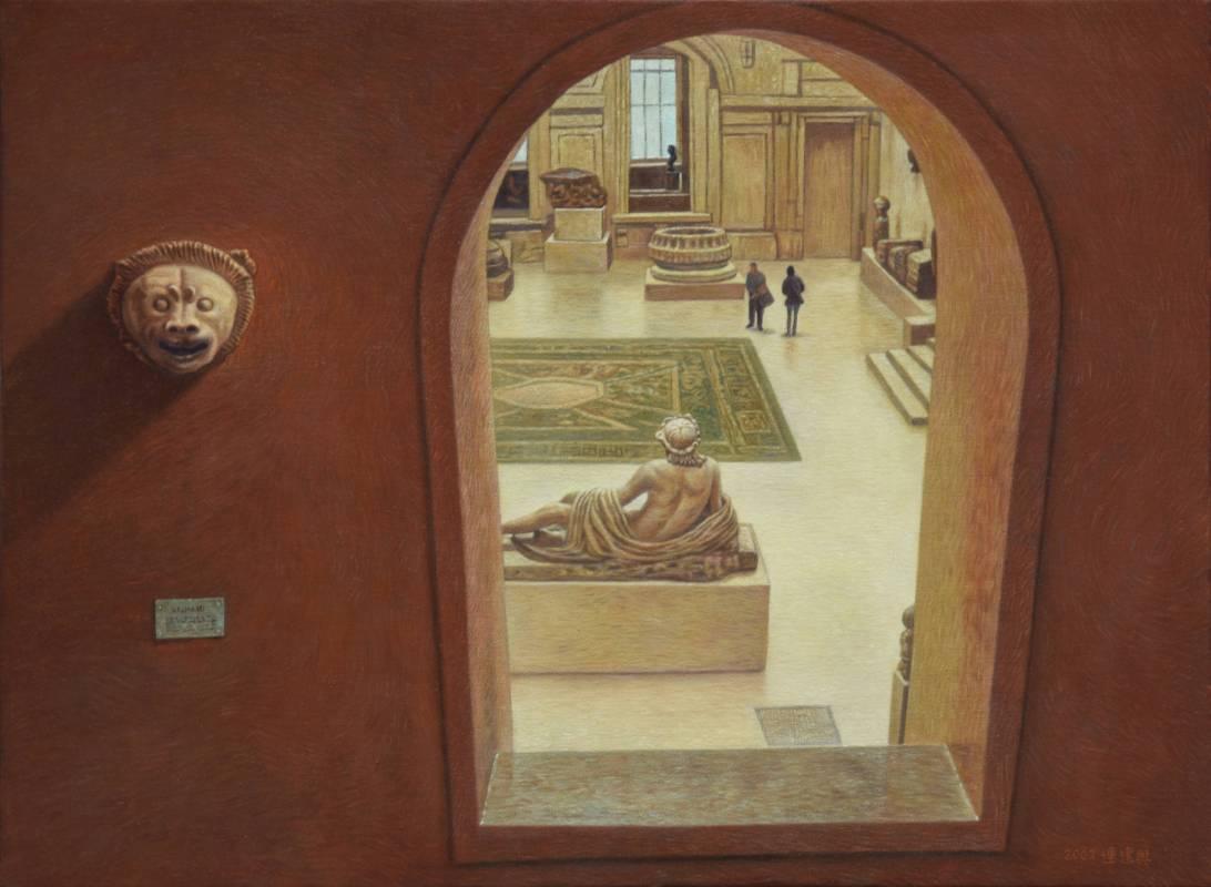 連建興|羅浮宮情調III|2002|油彩|50x72.5cm