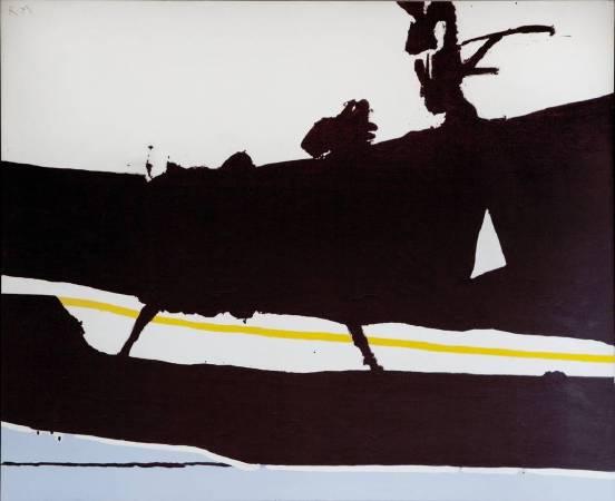Robert Motherwell ,New England Elegy,oil painting,1966。圖/取自wikipedia