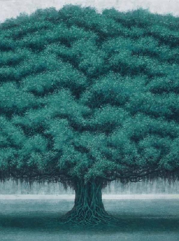 編號:10801-029  名稱:樹語 尺寸:72 * 54 cm 質材:岩彩/紙 年代:2018