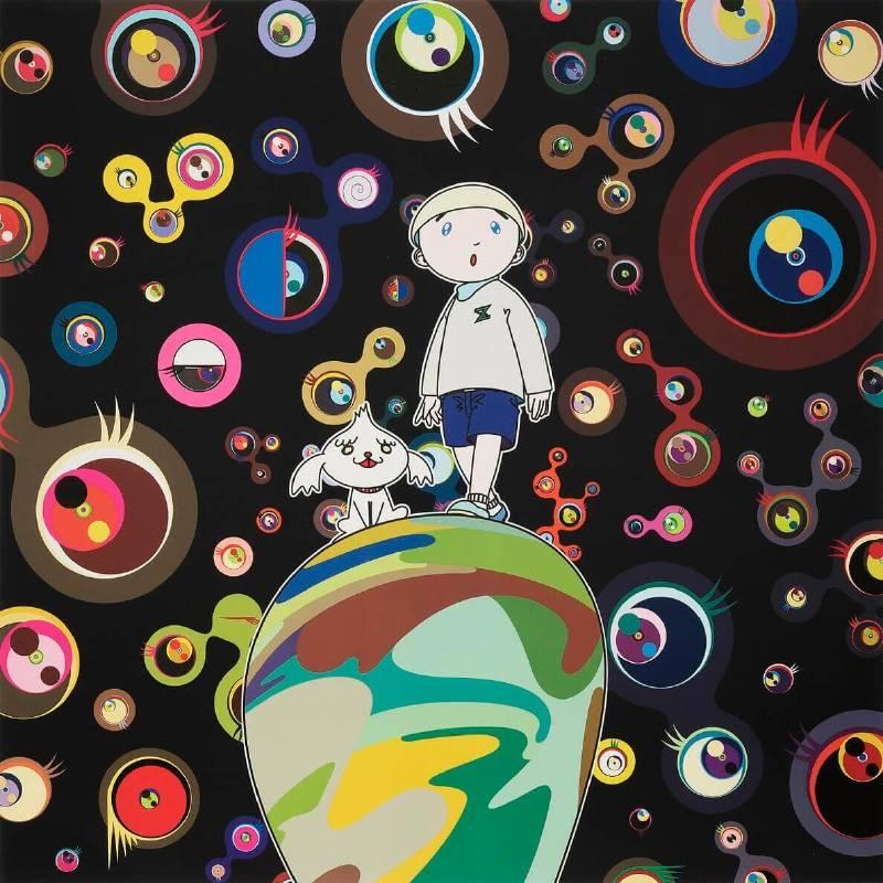 村上隆作品Jellyfish Eyes-Max and Simon in the Strange Forest。圖/愛上藝廊提供