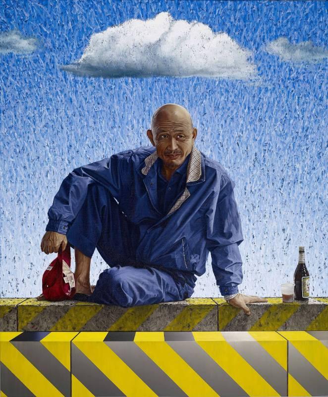 陸先銘 城市菩提  210x175cm 綜合媒材 2010
