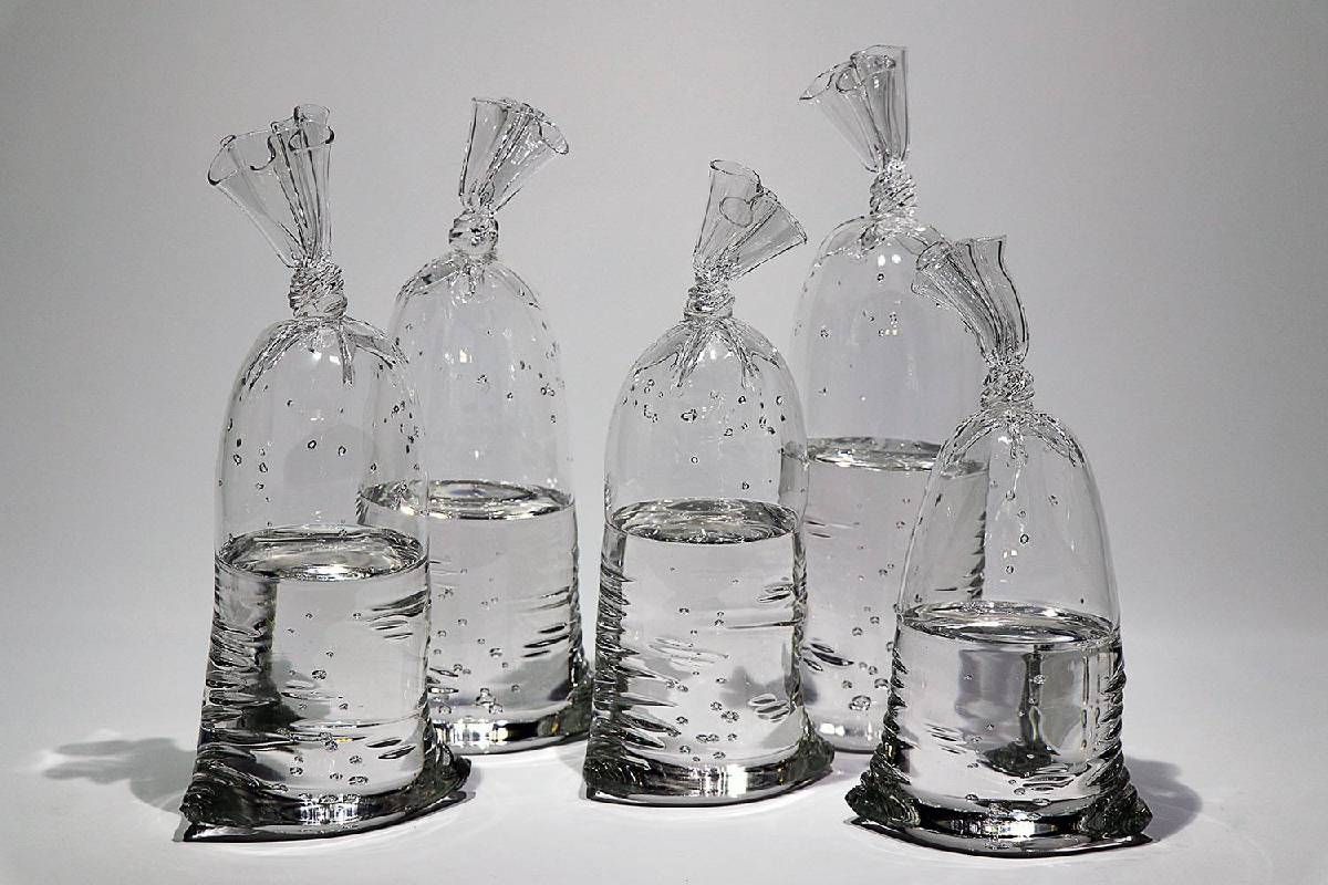 Water Bag,2018, Glass sculpture