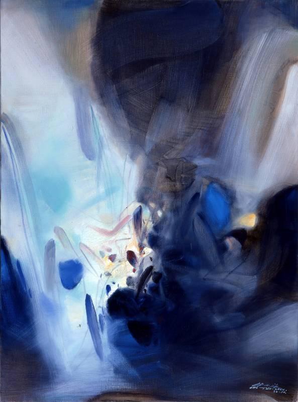 朱德群|超乎想像|1993-1994|油彩|130x97cm